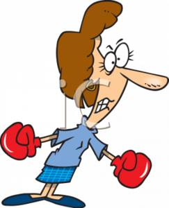 0511-0703-0618-4447_Tough_Businesswoman_Wearing_Boxing_Gloves_clipart_image