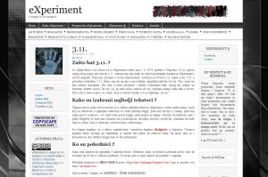 blog eXperiment