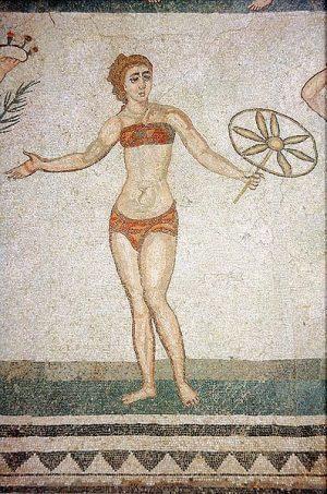 gaće na starorimskom mozaiku