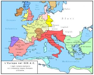 Europa, godina 526 posle Hrista