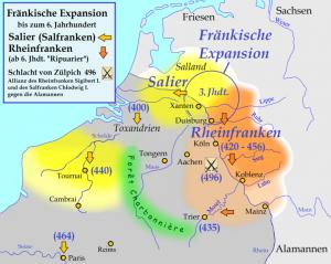 Širenje Franaka prema Istoku 6vek