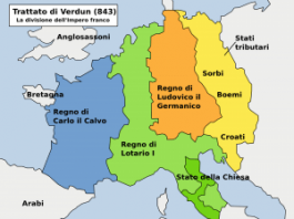 Stvaranje Nemačke i Francuske, podela Karlovog carstva