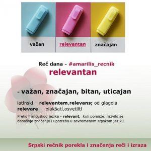 menažerija relevantan strane reči u srpskom jeziku