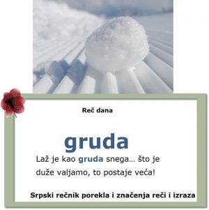 sneg gruda stare srpske reči