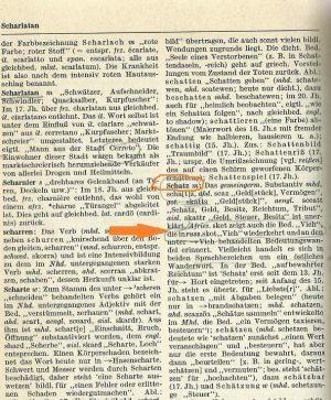 nemačka-reč-poreklo srpsko Schatz-stoka