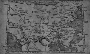 karta Balkana iz vremena, kada se mislilo da jedan planinski venac ide preko cele oblasti