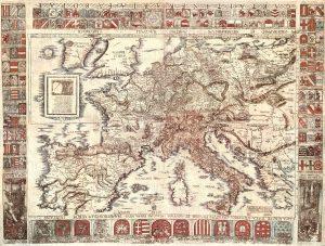 Karta Evrope, 1520 godina, u originalu je okrenuta naopako