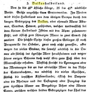 Uvođenje termina Balkan - Johann August Zeune