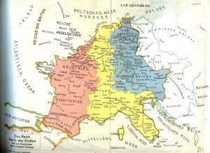 Karta iz doba Karla Velikog