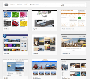 grid WordPress tema
