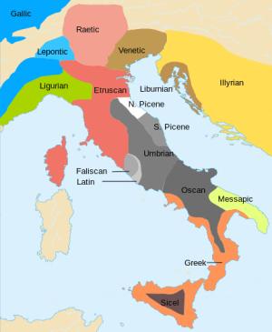 Italija pre Rimljana plemena
