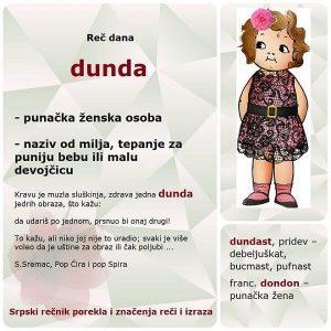 alapača dunda srpski rečnik