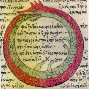uroborus zmija koja jede svoj rep