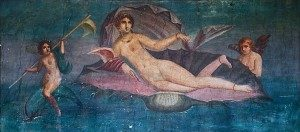Afrodita, Venera rađenje freska Pompeji