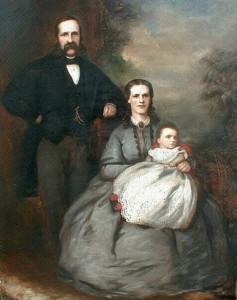 porodični portret ulje na platnu