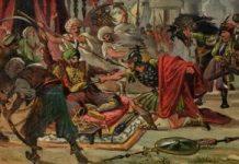 Miloš Obilić ubija sultana Murata