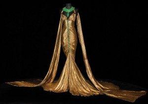 smaragno zelena i zlatna Klepopatra