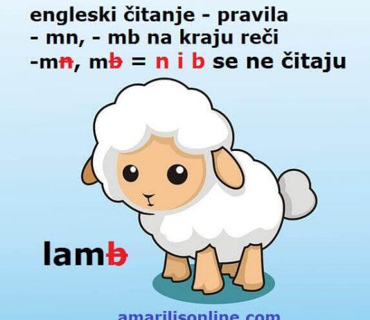 engleski -mn - mb čitanje
