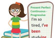 engleski vremena Present Perfect Continuous Progressive