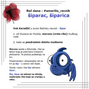pastrmka šiparac, šiparica srpski rečnik