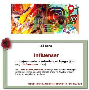 blaziran influenser značenje