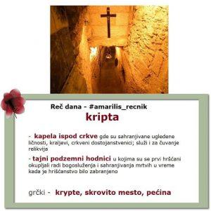 perut kripta srpski rečnik
