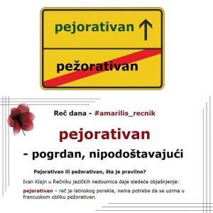 plenum pejorativan značenje srpski rečnik