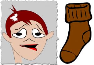 udaren mokrom čarapom