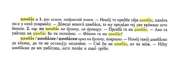 džambas Српски дијалектолошки зборник 57